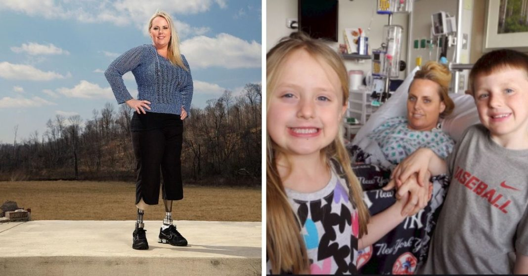 Mom Loses Her Legs To Save Her Kids