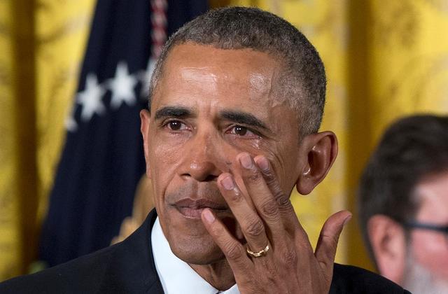 """I cried when i saw that video""- Obama"