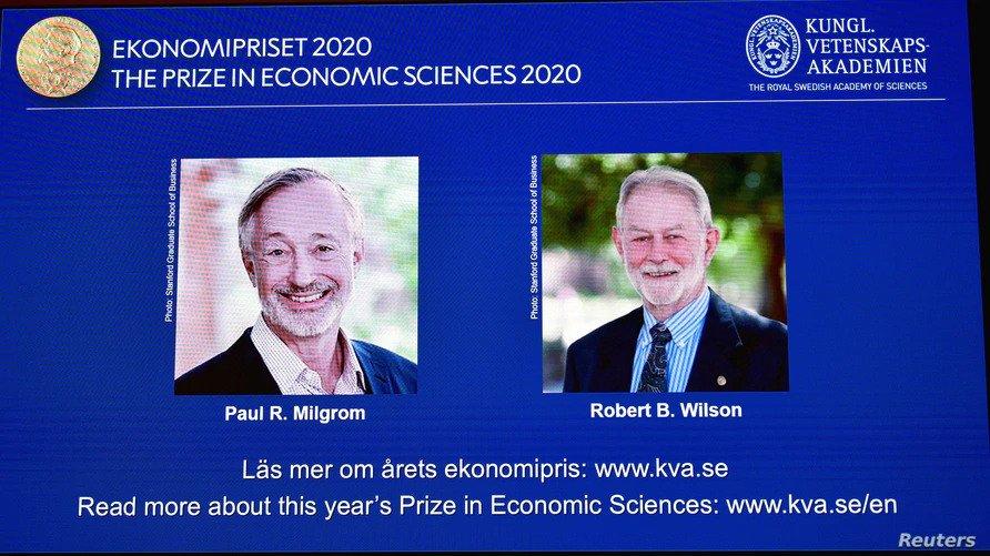 2 Americans Win 2020 Nobel Prize for Economic Science